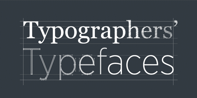 Top 25 typefaces admired by the leading typographers