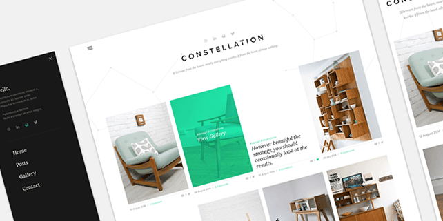 Constellation – Tumblr free PSD template