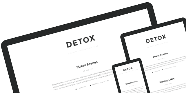 Detox – beautiful, modern Ghost theme