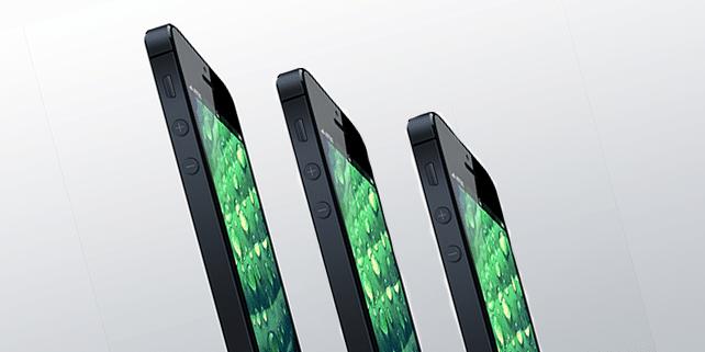 iPhone 5 characteristic angle mockup