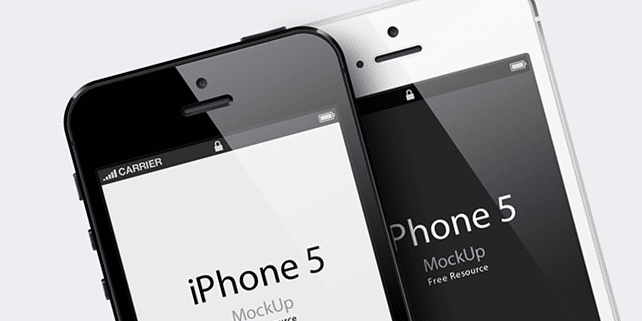 iPhone 5 PSD and vector mockup