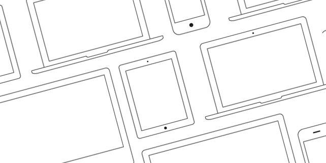 Vector outline Apple devices