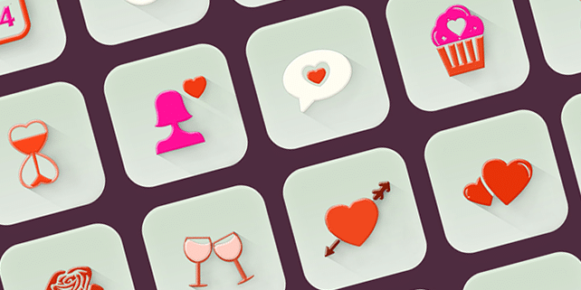Fresh set of 20 icons for Valentine's Day