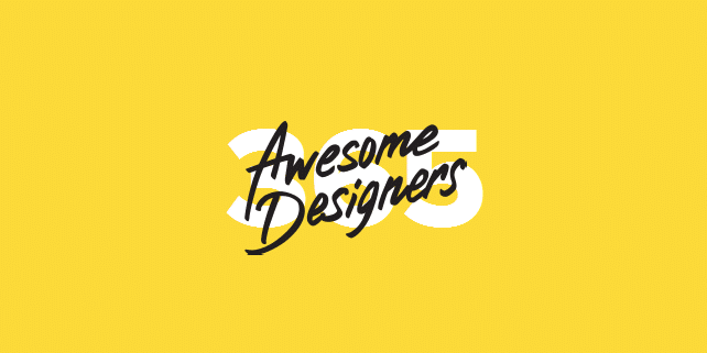 365 Awesome Designers: 1 designer / day for 1 year