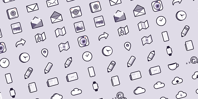 48 pixel perfect icons, free PSD