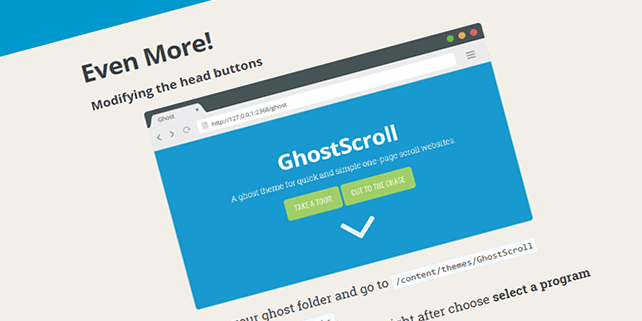 GhostScroll – one page Ghost theme
