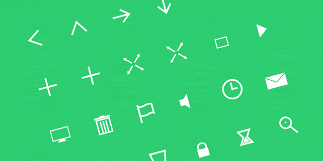 SVG icons with fancy animation