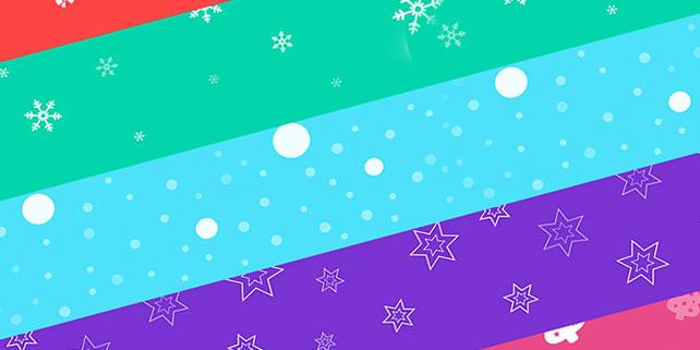 5 seamless Christmas backgrounds