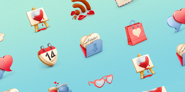 10 lovely icons for St. Valentine's Day