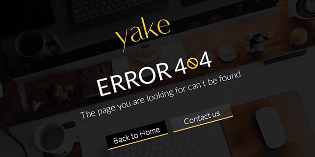 Yake – custom 404 error page