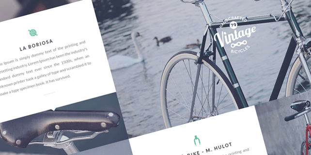 Bicycle – HTML5/CSS3 template