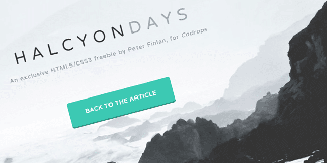 Halcyon Days – creative HTML template
