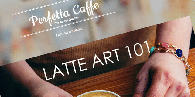 Perfetta caffe – Ghost theme