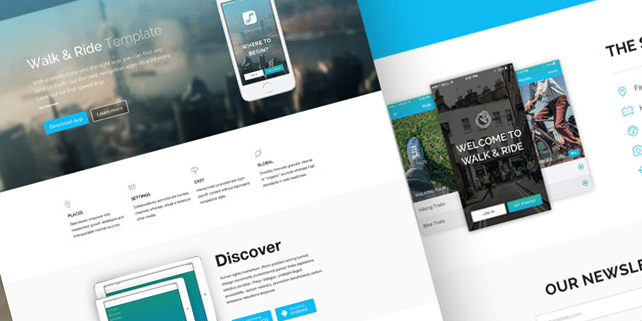 Walk & Ride – one page HTML template
