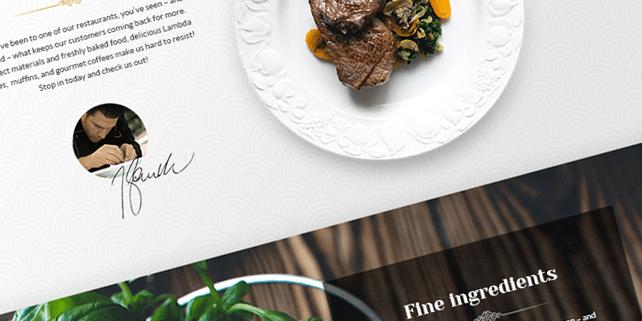 Lambda – restaurant PSD template