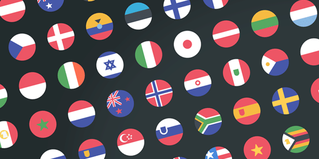 58 country flags (vector icons)