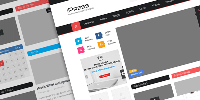 iPress – neat & clean magazine template