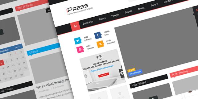 ipress-free-psd-template