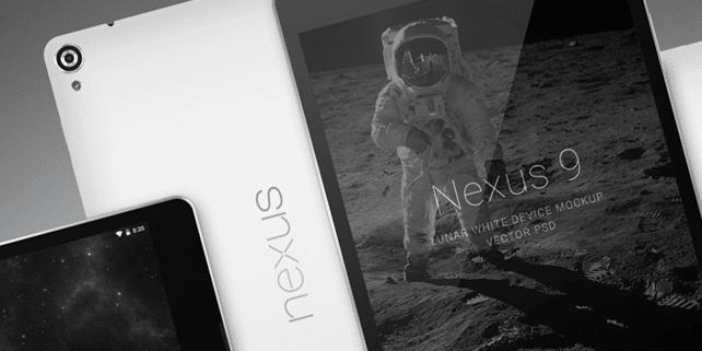 Nexus 9 device mockup