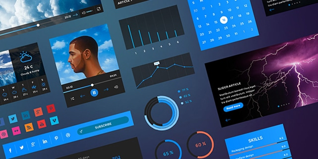 Hand crafted Retina UI kit