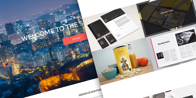 Seven – creative one page template