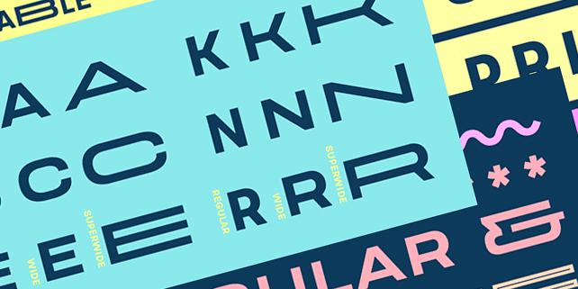 Velodroma – a new sans serif font