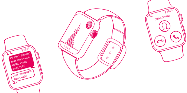 Apple Watch UI wireframe kit