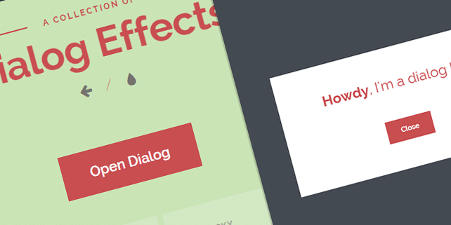 Dialog box with stylish effects