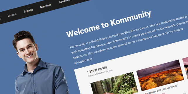 Kommunity – BuddyPress WordPress theme