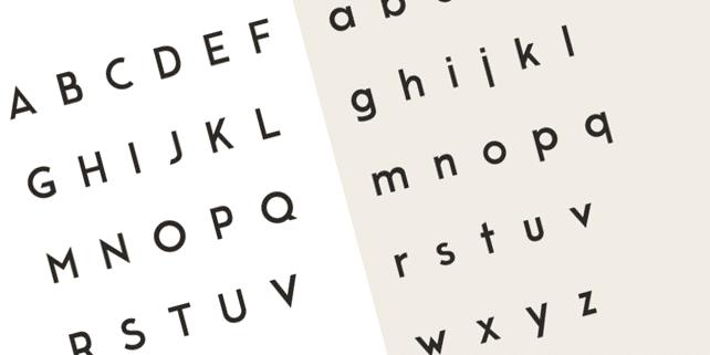 Moderne sans – clean sans-serif font