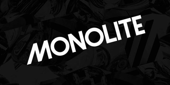 Monolite – geometric sans-serif font