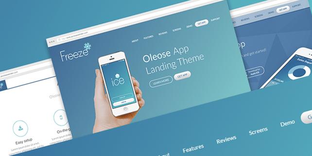 Oleose – responsive app landing page