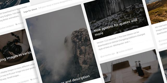 Saga – photoblog Ghost theme