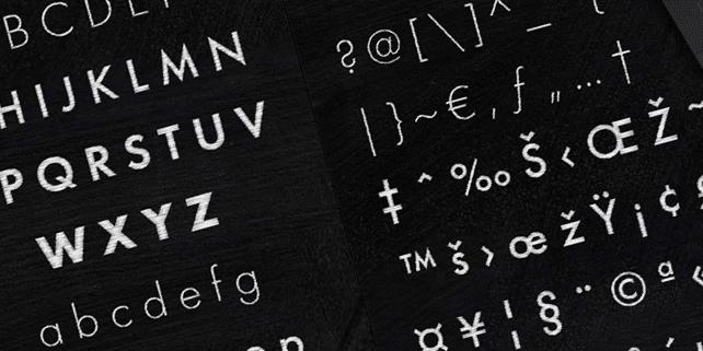Schist – classic akzidenz-grotesk font
