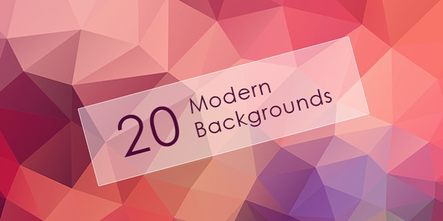 20 high quality geometric backgrounds