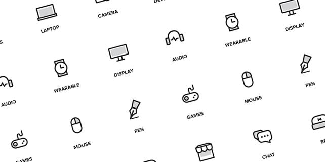 30 clean random icons