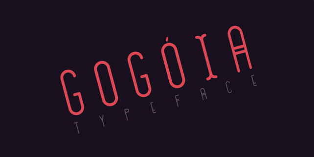 Gogoia – unusual, juicy font