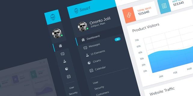 Smart – admin PSD template