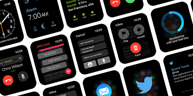Apple Watch UI kit (30+ screens & elements)