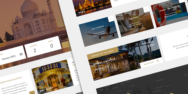 Travel and booking PSD template