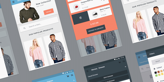 Materia – material design eCommerce UI kit