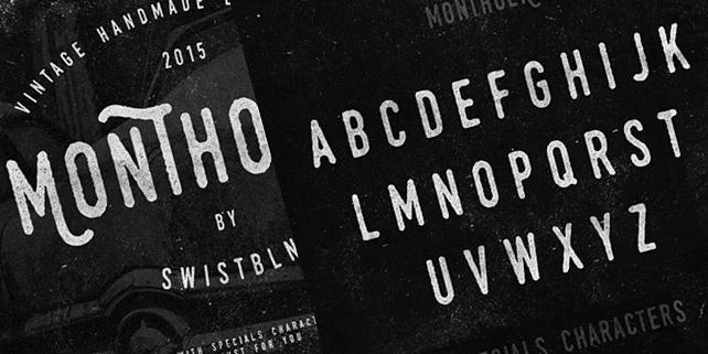 Monthoers – handmade, vintage font