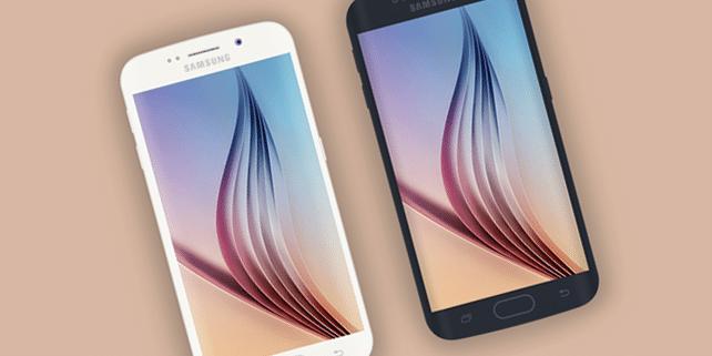Flat Galaxy S6 & Galaxy S6 Edge mockup