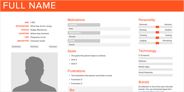 How to easily create user personas online
