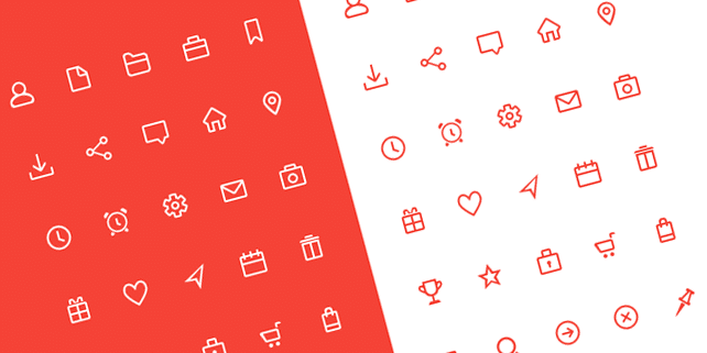 30 simple, beautiful icons