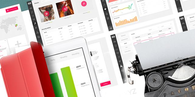 Simple blogging app (8 PSD files)