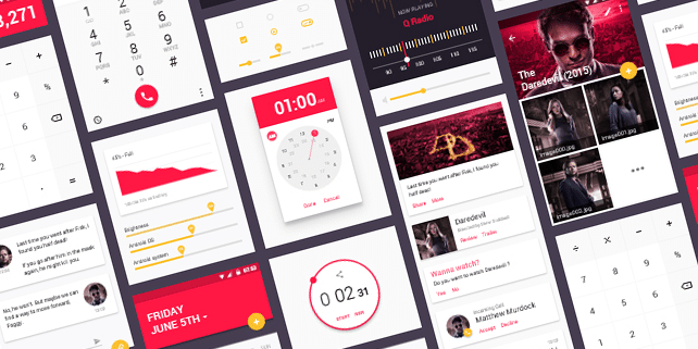Clean material design UI kit
