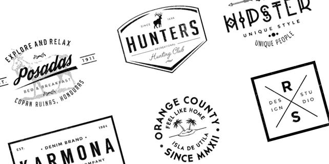 6 elegant logos for branding