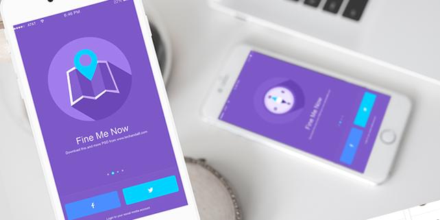Iphone 6 Mockup App Showcase Designhooks