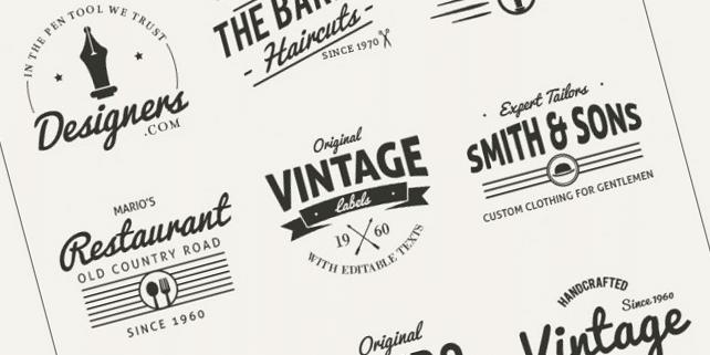 9 retro style logos